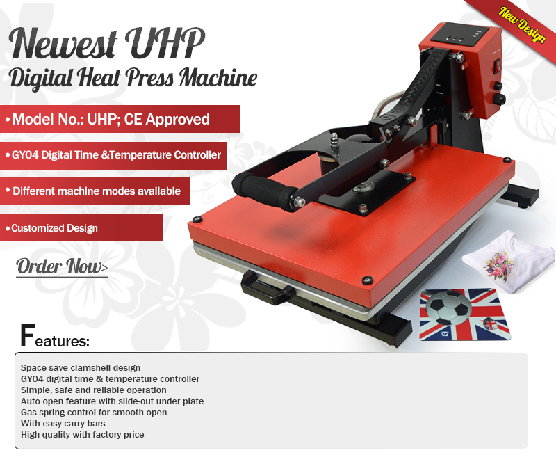 Newest UHP T-shirt Heat Press at low cost