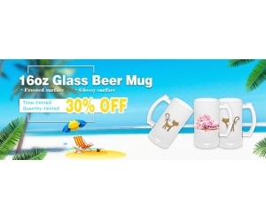16oz mattierte Sublimations-Glas-Bierkrug