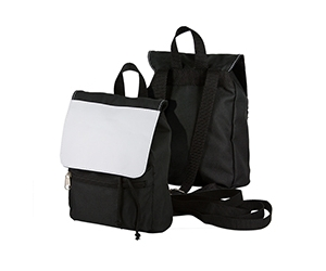 City Bag (Black Polyester,  Khaki Canvas)