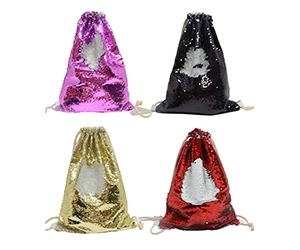 Reversible Sequin Sublimation Backpack Drawstring Bag