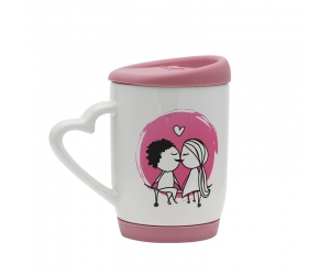 Sublimation Mug with Color Silicone Cover