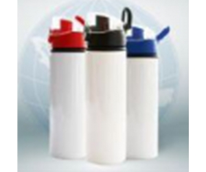 White Aluminum Sports Bottle with Bounce Lid
