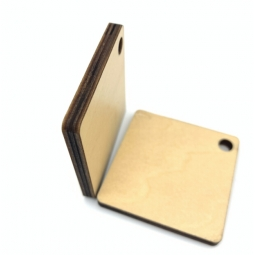 China Sublimaiton plywood ID Tag factory