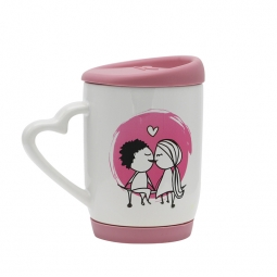 China Sublimation Mug with Color Silicone Cover factory