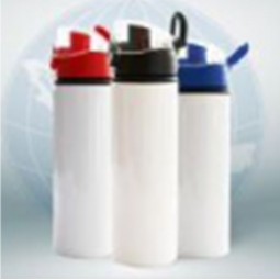 China White Aluminum Sports Bottle with Bounce Lid factory