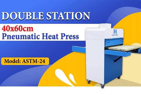 Double Station 40x60cm Pneumatic Heat Press