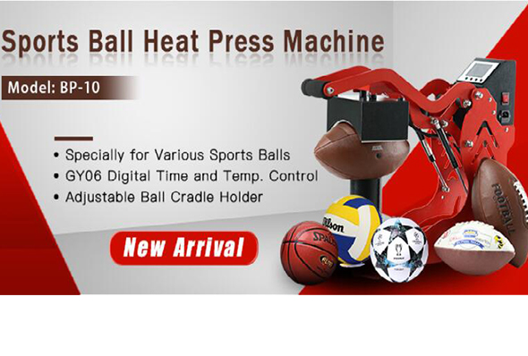 Sports ball heat press machine from Microtec