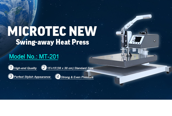Machine de presse à chaleur de Microtec New Swing-Away